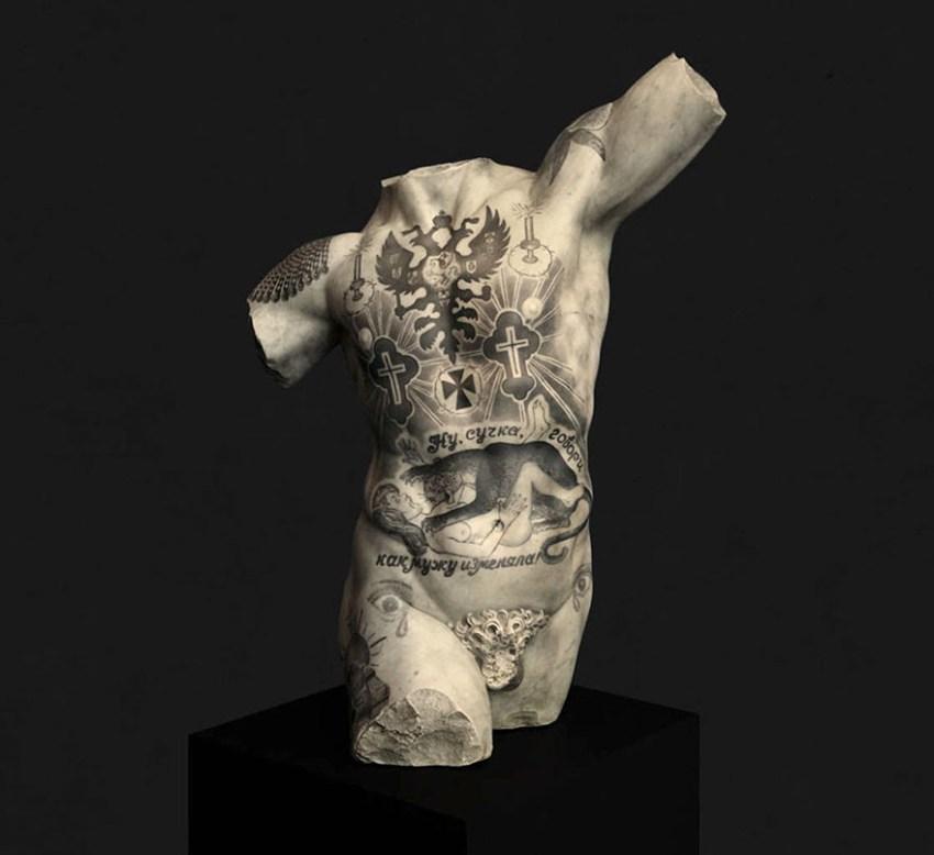 Classical Sculptures Tattoos Fabio Viale Italy 595b9b5553b91  880 1, Fatos Desconhecidos