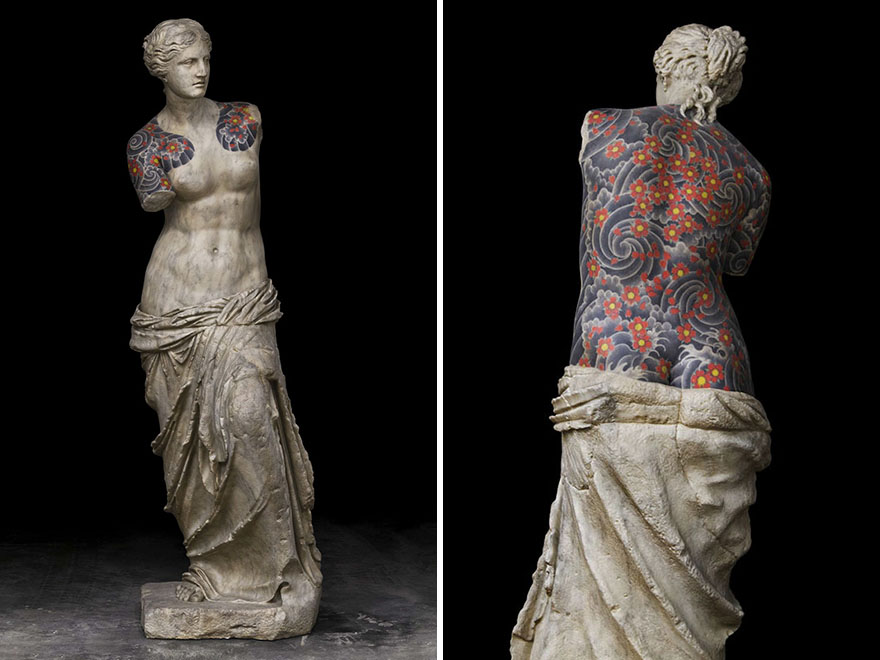 Classical Sculptures Tattoos Fabio Viale Italy 6 1, Fatos Desconhecidos