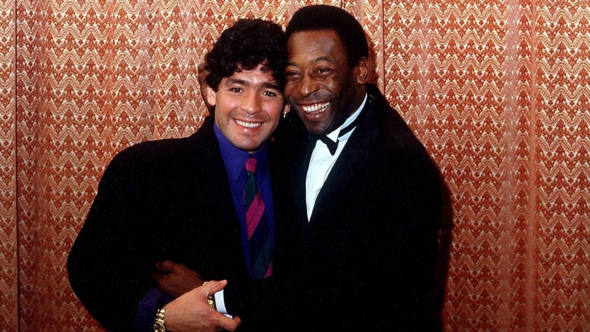 Maradona E Pele Se Abracam Em Evento Em Berlim Na Alemanha Em 1986 1417146971622 1920x1080, Fatos Desconhecidos