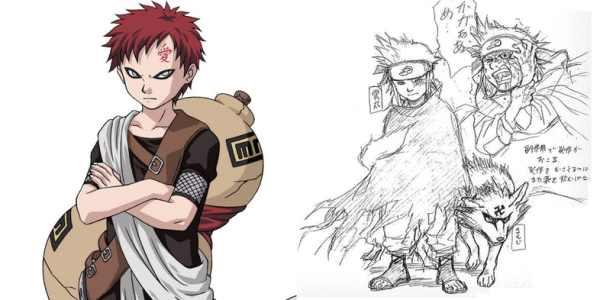 Gaara Concept Art Naruto 600x300, Fatos Desconhecidos