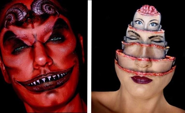 Artista cria maquiagens assustadoras retratando o pior pesadelo das pessoas