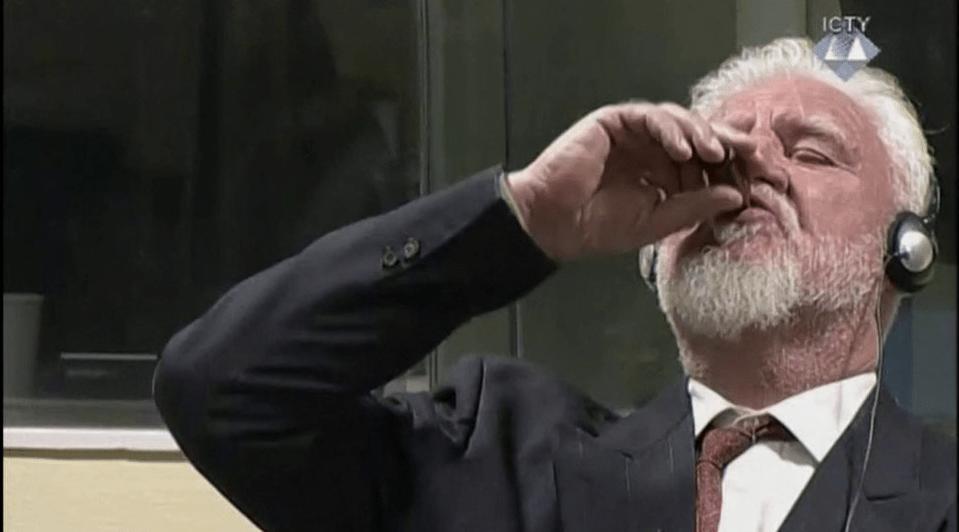 Conheça a história do ex-líder croata que bebeu veneno no tribunal