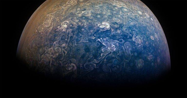 Essas são as novas imagens de Júpiter feitas pela NASA