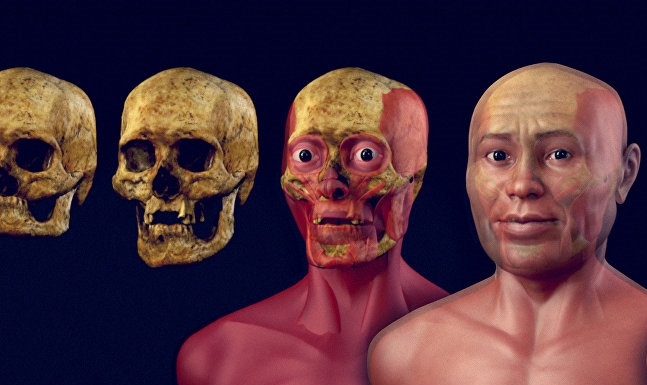 Vídeo mostra a reconstrução facial de um homem de 2 mil anos encontrado no Brasil
