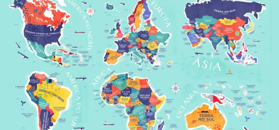 6cf3d54c19547 Esse mapa global identifica a origem dos nomes de diversos países ...