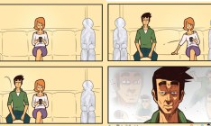 10 quadrinhos que mostram situações diárias e esquisitas na vida de um homem