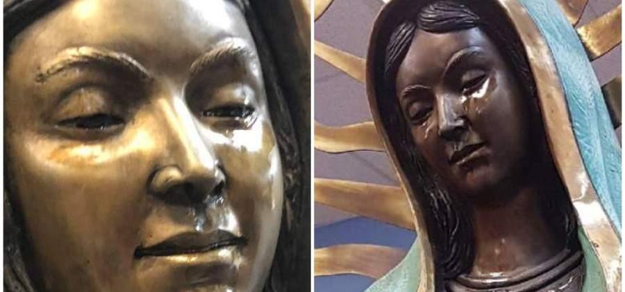 ESSA ESTÁTUA DA VIRGEM MARIA DE UMA IGREJA NOS EUA TEM 'CHORADO' HÁ MESES [VÍDEO]