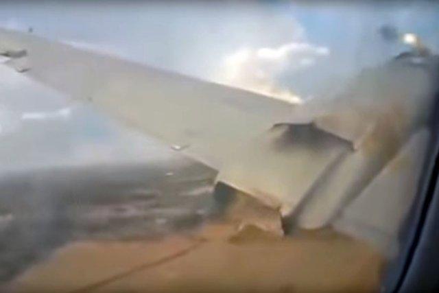 Passageiro grava vídeo do momento da queda de um avião na África do Sul