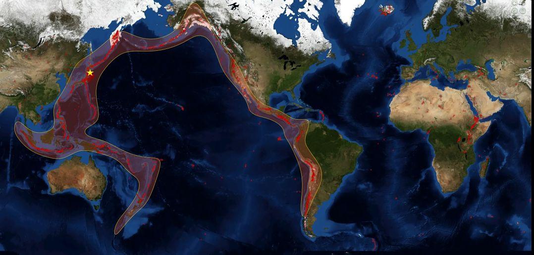 Entenda o 'Anel de Fogo' que é supostamente a origem de grandes desastres