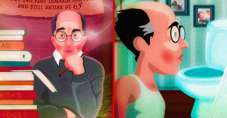 Capas hilárias mostram como seria a saga Harry Potter se ele fosse um homem de meia-idade