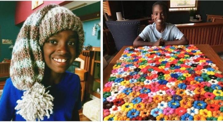 """Garoto conhecido como o """"mestre do Crochê"""" usa seu talento para ajudar pessoas carentes"""