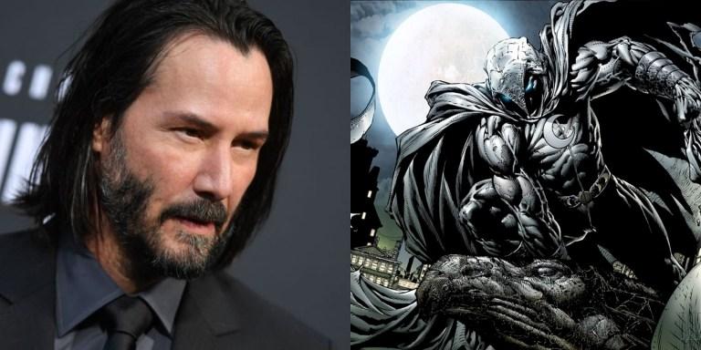Arte incrível mostra como Keanu Reeves ficaria como o Cavaleiro da Lua