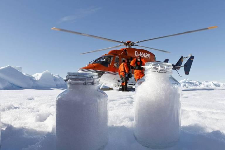 Aparentemente, nevou microplástico no Ártico