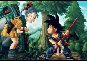 imagem post Este era o visual de Goku e Bulma antes de Dragon Ball estrear