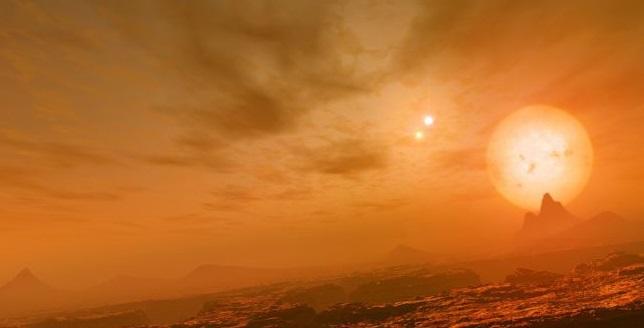 Exoplaneta descoberto é aquecido por 3 sóis gigantes