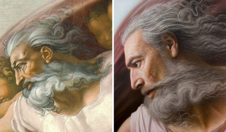 7 imagens que mostram obras clássicas transformadas em pinturas ultrarrealistas