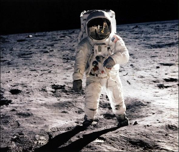 41728657 Spcl Editora Globofiles Picture Taken 20 July 1969 Of Astronaut Edwin E Aldrin Jr Lunar Mod 590x500, Fatos Desconhecidos