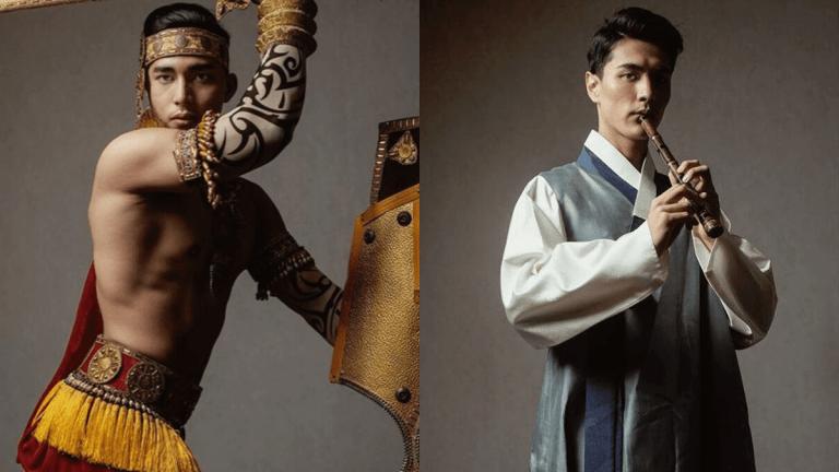 18 imagens que mostram modelos com roupas típicas de seus países