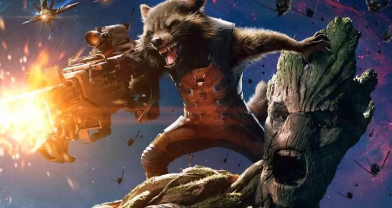 Groot se transforma em uma armadura para Rocket Raccoon e o resultado é incrível
