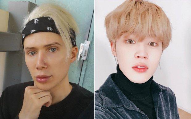 Fã gasta mais de 1 milhão para se parecer com cantor do BTS
