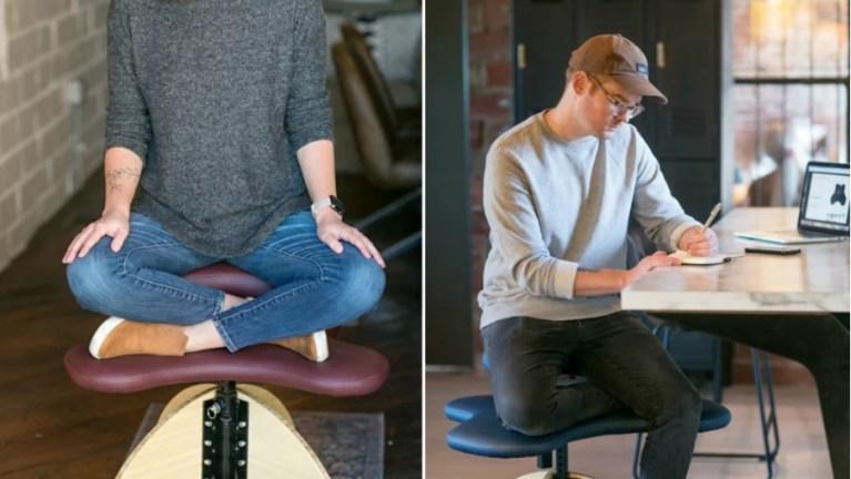 Se você gosta de se sentar sobre sua perna, essa cadeira foi feita para você