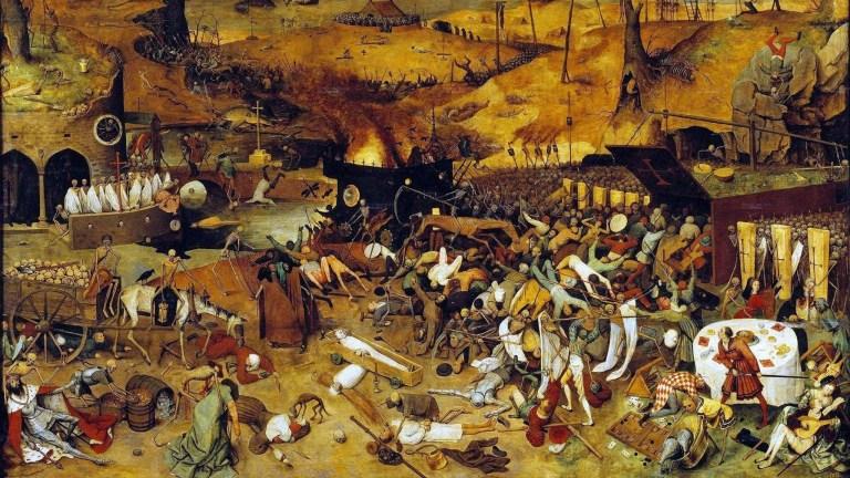 Como foi o plano econômico dos governos medievais durante a peste bubônica?