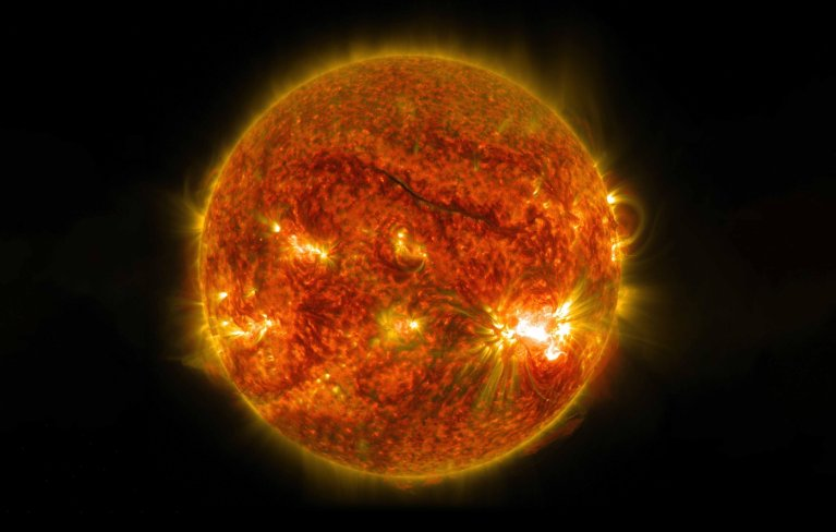 O sol teve sua maior atividade desde 2017