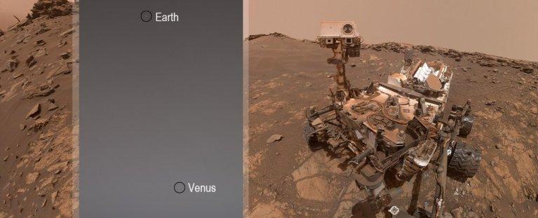 Rover Curiosity enviou foto da Terra e de Vênus como nunca foram vistos antes