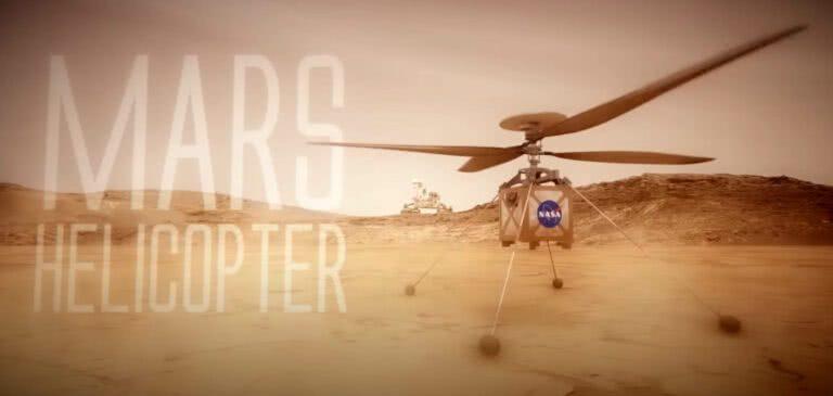 NASA envia o primeiro drone que vai voar em Marte, o helicóptero de Marte