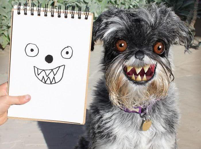 Pai transforma os desenhos feitos pelo seu filho em realidade e os resultados são bizarros e hilários