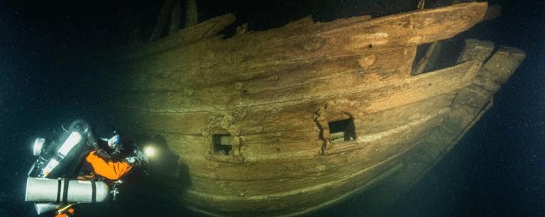 Navio do século XVII é encontrado no mar Báltico impressionantemente bem preservado