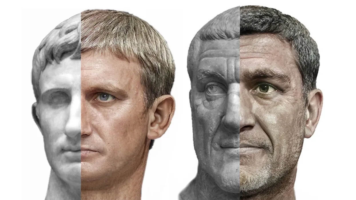 10 rostos de imperadores romanos criados por inteligência artificial