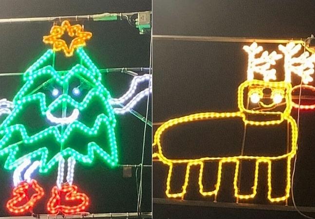 Essa cidade criou luzes de natal baseadas em desenhos de crianças