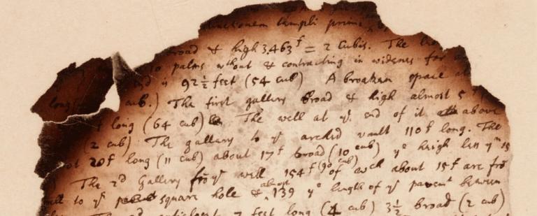 Anotações sobre a Grande Pirâmide queimada mostram pesquisa de Newton sobre o apocalipse