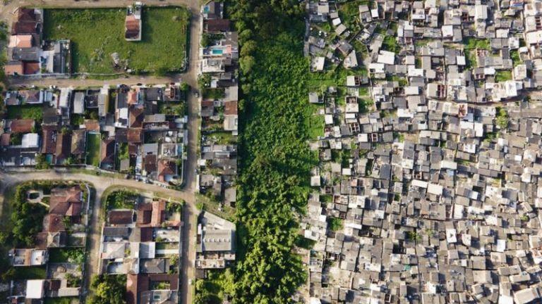 Imagens impressionantes da desigualdade do Brasil vista de cima