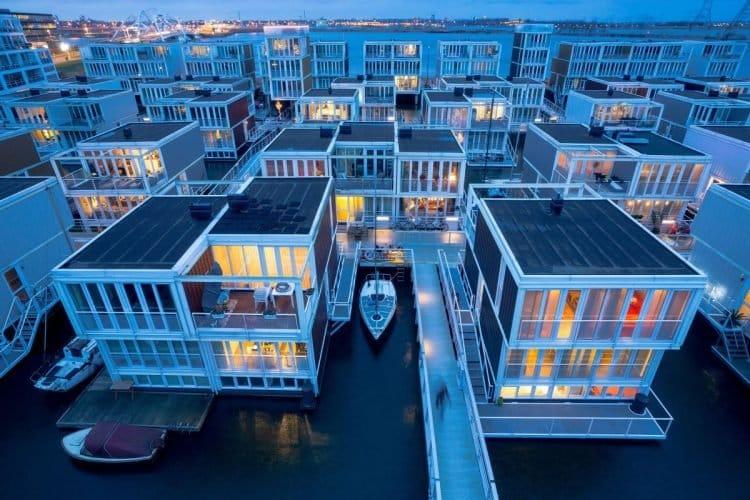 Conheça o Waterbuurt, o quarteirão Flutuante de Amsterdã