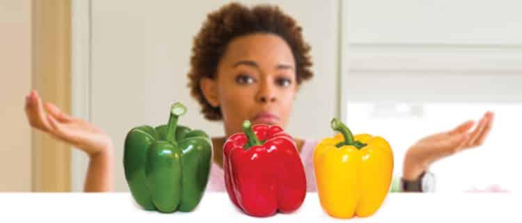 Por que o pimentão verde é mais barato que os outros?