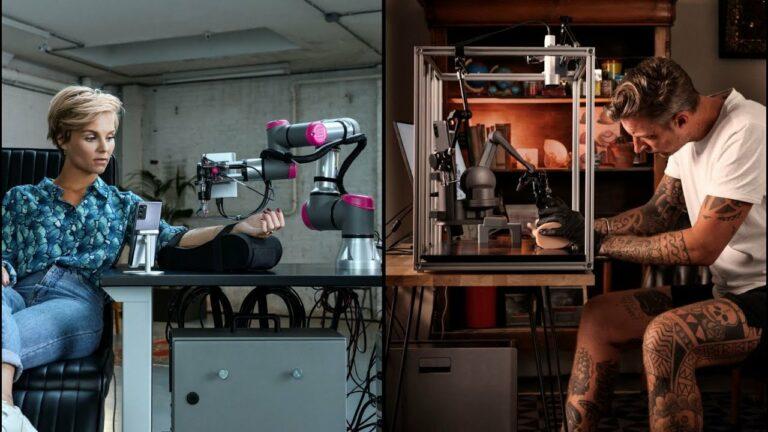 Essa tatuagem foi feita por um robô usando 5G com o tatuador a seis mil quilômetros de distância