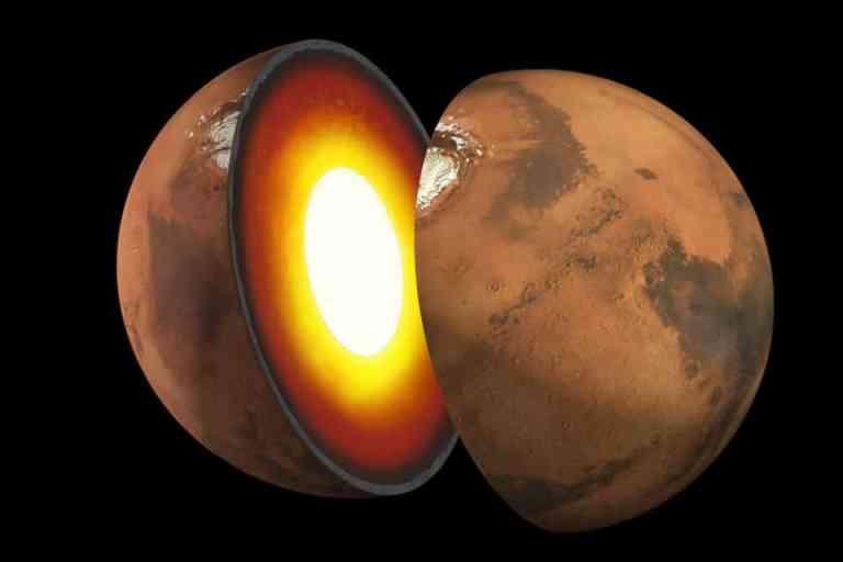 Cientistas finalmente mediram o tamanho do núcleo de Marte