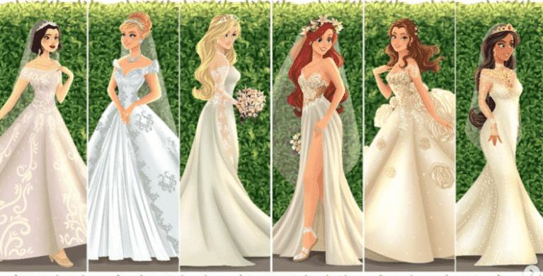 Artista cria vestidos de noiva dignos de contos de fada para as princesas da Disney