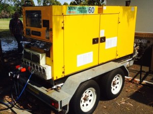 60kva Trailer Mounted Film Silenced Generator