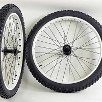26 inch Fat Tire Bike Bicycle Wheels 26 x 3.0 Duro Tires and Tubes 135 /170mm
