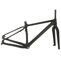 FASTEAM Carbon Fat Tire Snow Bike 26er Fatbike Frameset BSA UD Matt 16 Inch Frame Only 1280g