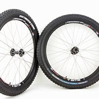 Fat Bike WTB Frequency i25 Race 27.5in 650b Mountain Bike Wheels Disc Rim Brake Black Wheel Set With VEE Trax Fatty Tires and Tubes!