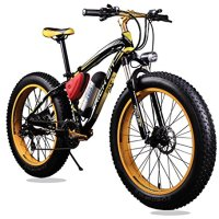 New Updated 21 Gears Yellow Black TP12 36v X 350 Watt Lithium Battery Electric Mountain Bicycle Shimano Snow Bike Electric Bike Fat Bike