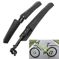 Cycling Mountain Bicycle Bike Front Rear Mud Guards Mudguard Fenders Set - Black