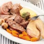 carne di manzo gallina testina per bollito misto