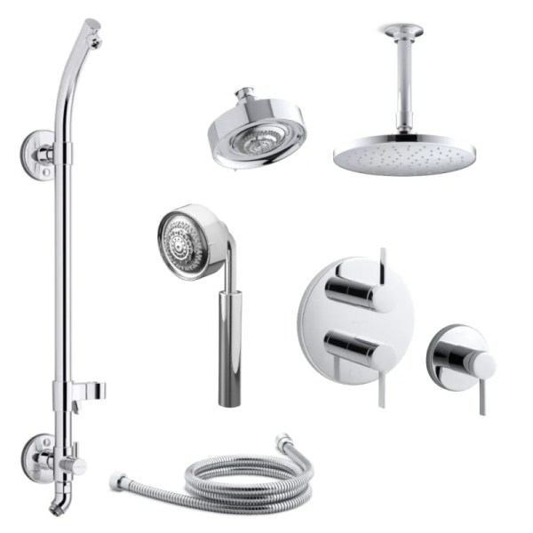 Upc 087206981494 - Kohler -966-cp Polished Chrome Taboret Modern Three Function
