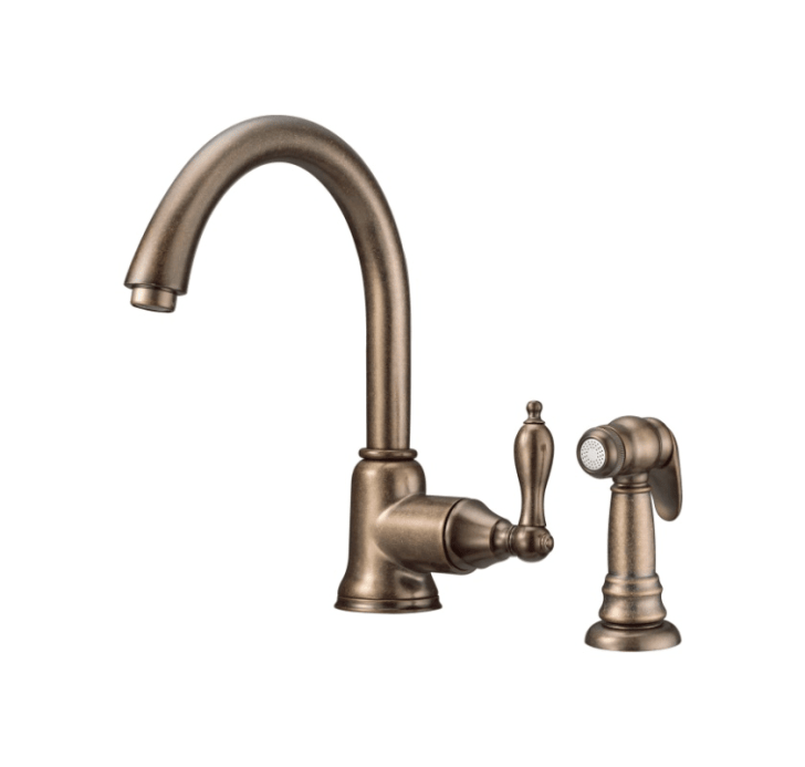 Danze D Rbd Distressed Bronze Kitchen Faucet Includes Side