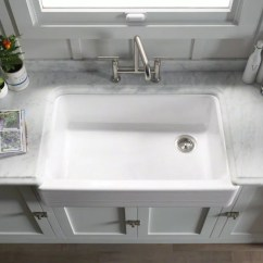 Cast Iron Kitchen Sinks For Sale Sunflower Accessories Faucet K 6351 In White By Kohler